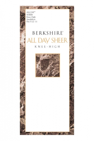 Berkshire All Day Sheer Knee High Sandalfoot