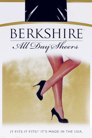 Berkshire Queen All Day Sheer Non-Control Top Pantyhose - Sandalfoot