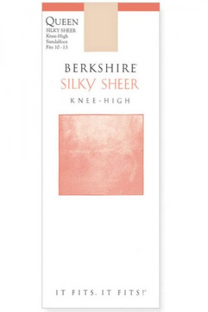 Berkshire Queen Silky Sheer Knee High - Sandalfoot