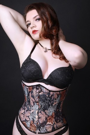 Black Iris Fall Leaves Corset