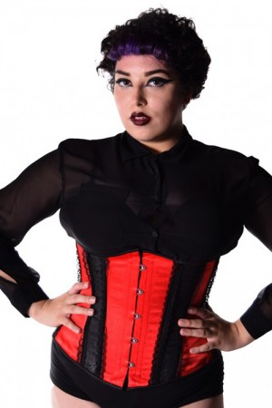 Black Iris Red and Black Gothic Corset
