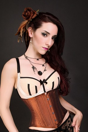 Black Iris Rusted Brown Waist Cincher Corset