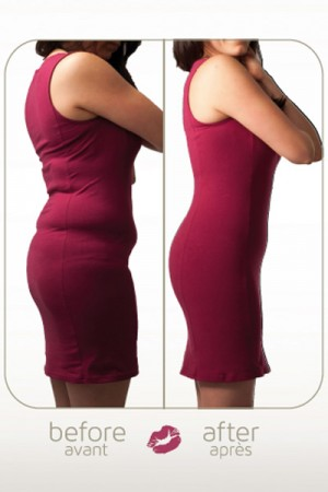 Body shaper before and after