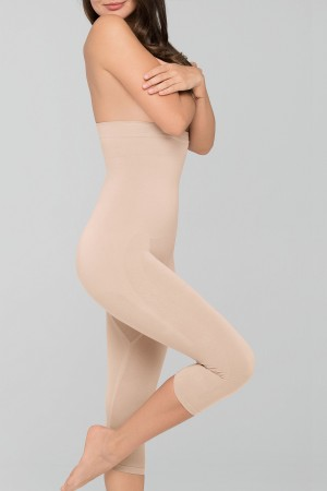 Body Wrap High-Waist Long-Leg Capri