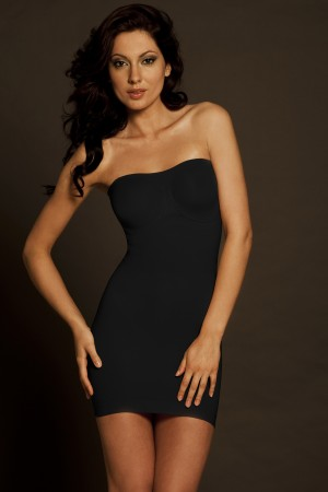 Body Wrap The Slenderizer Strapless Bra Slip With Underwire