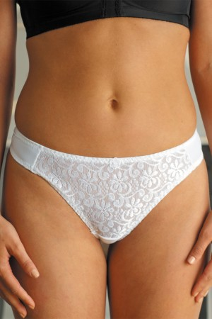 Carnival Tuxedo Lace Center Microfiber Low-Rise Panty