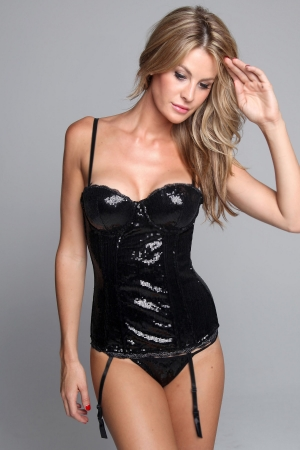 Classic Shapewear All-Over Sequin Bustier