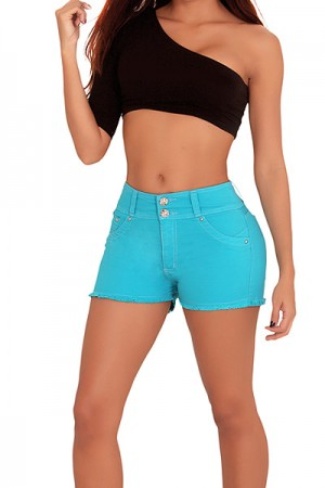 Classic Shapewear Butt Lift High Rise Short Jeans