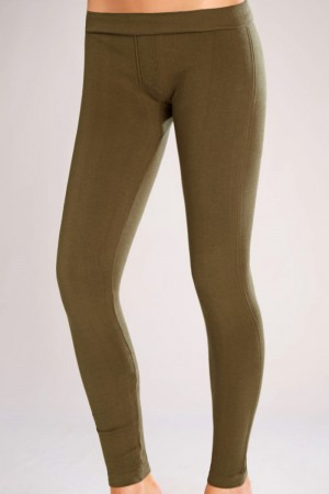 Classic Shapewear Twill Cotton Green Leggings