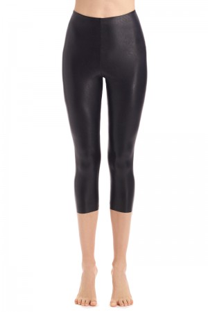 Commando Faux Leather Capri Legging With Perfect Control