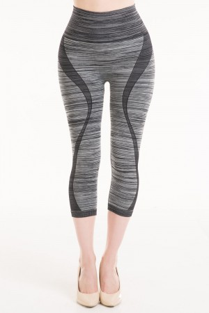Connection 18 High Waist Capri Leggings with Yoga Design