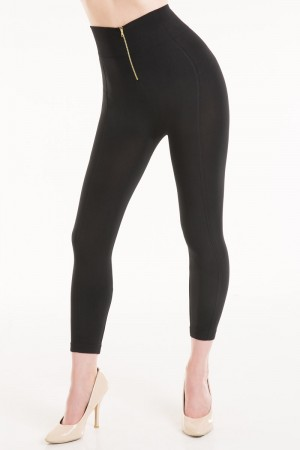 Connection 18 High Waist Leggings with Zipper Detail