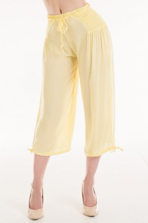 Connection 18 Long Smocking Side Linen pants