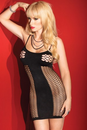 Coquette Fishnet Panel Dress