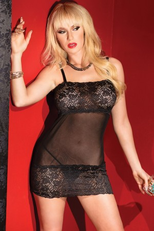 Coquette Mesh Tube Dress