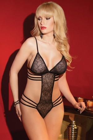 Coquette Printed Mesh Teddy