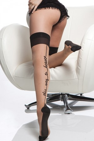 Coquette Sheer Stocking with Cuban Heel