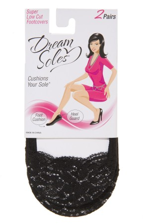 Dream Soles Lace Top Foot Covers 2-Pack