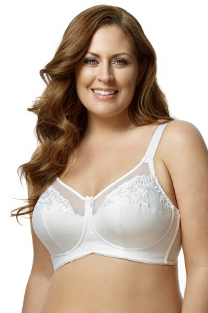 Elila Embroidered Microfiber Softcup Bra