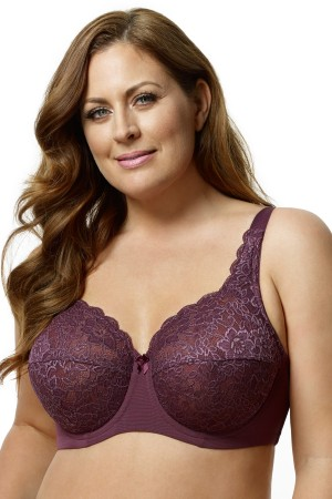 Elila Full Coverage Stretch Lace Underwire Bra