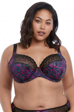 Elomi Jodi Underwire Plunge Bra With Stretch Lace