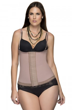 Fajas D'Prada Abdominal Girdle with Front Suspenders
