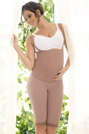 Fajas D'Prada Maternal Body Girdle to the Knee with Pregnancy Support