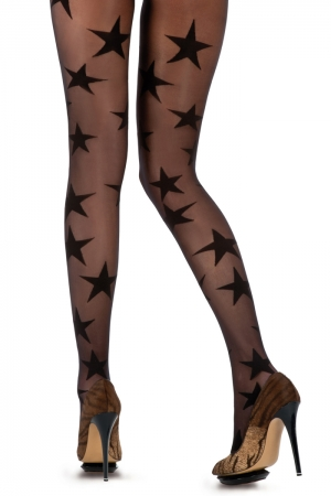 House of Holland for Pretty Polly Superstar Black Tights