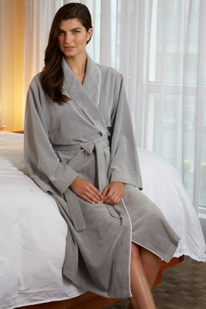 KayAnna Diamond Microfiber Shawl Collar Robe