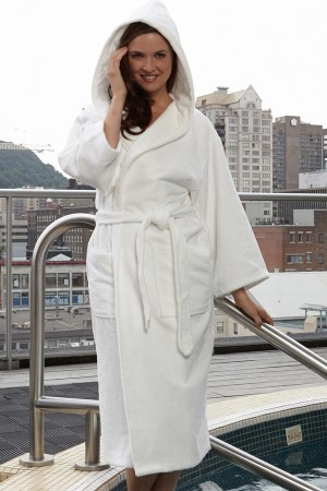 KayAnna Spa Plush Hooded Robe