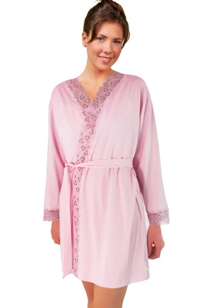 Knock Out Migthy Nighties Lacy Robe