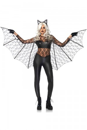 Leg Avenue 2-Piece Black Magic Bat Costume