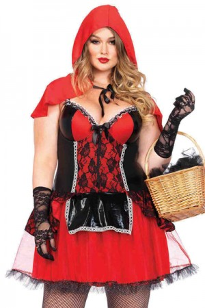 Leg Avenue 2-Piece Curvy Red Riding Hood Costume