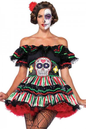 Leg Avenue 2-Piece Day of the Dead Doll Costume