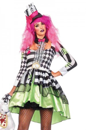 Leg Avenue 2-Piece Deliriously Mad Hatter Costume