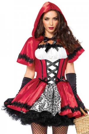 Leg Avenue 2-Piece Gothic Red Riding Hood Costume