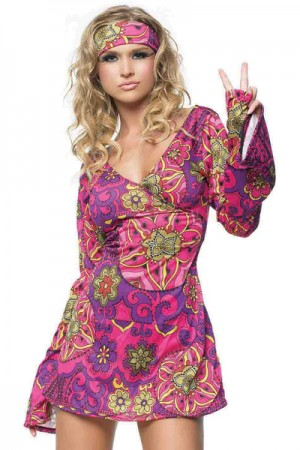 Leg Avenue 2-Piece Retro Hippie Go Go Dress