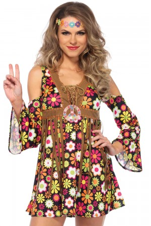 Leg Avenue 2-Piece Starflower Hippie Costume