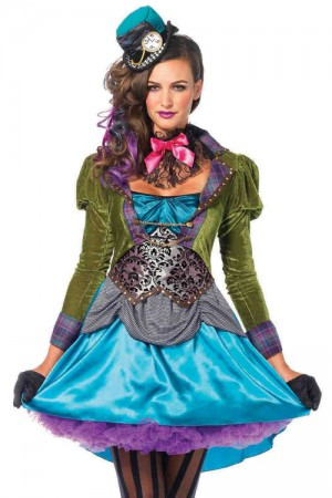 Leg Avenue 3-Piece Deluxe Mad Hatter Costume
