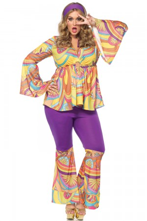 Leg Avenue 3-Piece Purple Haze Hippie Costume