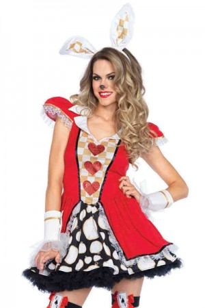 Leg Avenue 3-Piece Tick Tock White Rabbit Costume