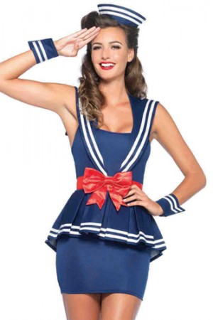 Leg Avenue 4-Piece Aye Aye Amy Costume