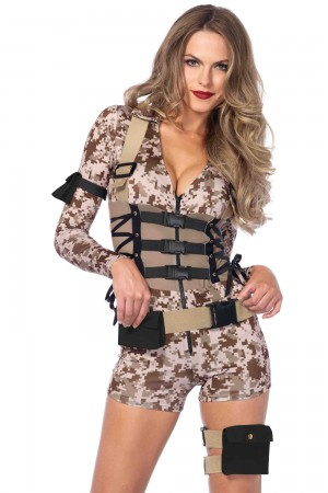 Leg Avenue 4-Piece Battlefield Babe Costume