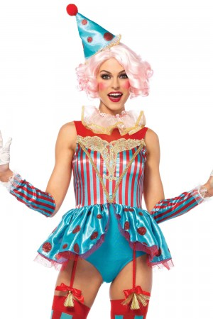 Leg Avenue 4-Piece Delightful Circus Clown Costume