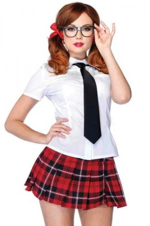 Leg Avenue 4-Piece Private School Sweetie Costume