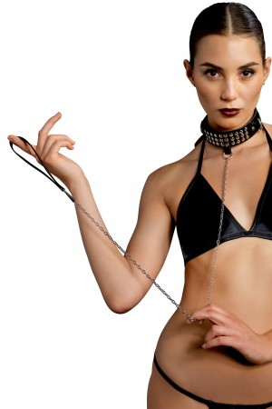 Leg Avenue Bondage Collar and Leash