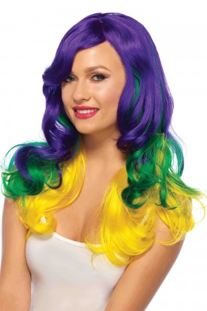 Leg Avenue Carnival Tri-Color Wig