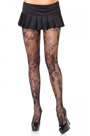 Leg Avenue Floral Bloom Lace Pantyhose