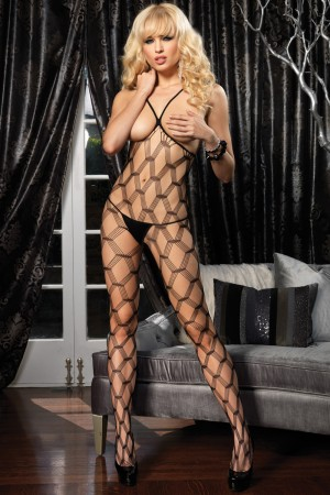 Leg Avenue Hardcore Net Open Cup Bodystocking