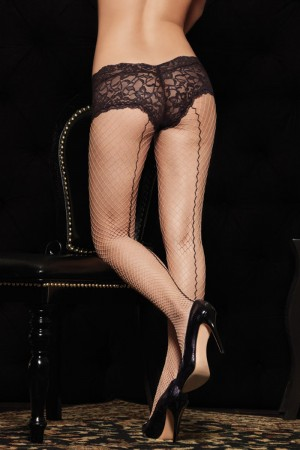 Leg Avenue Industrial Net Pantyhose with Backseam